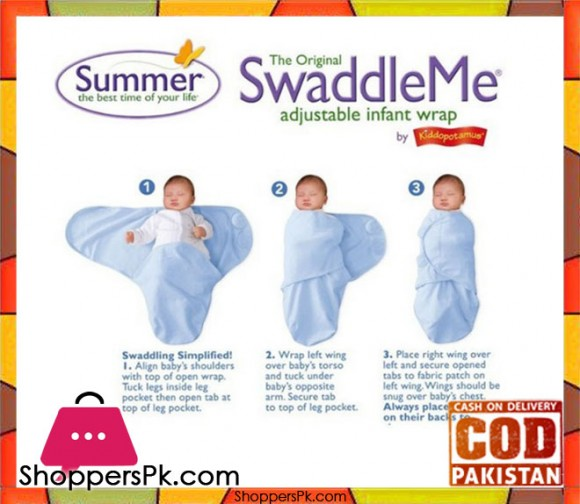 0-3 Months Baby 100% Cotton Summer SwaddleMe Adjustable Infant Wrap