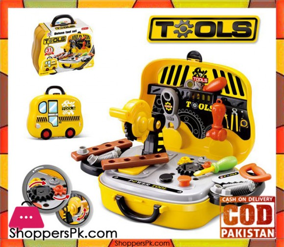 31 Pcs Deluxe Kids Tool Set in Pakistan - 008-916A