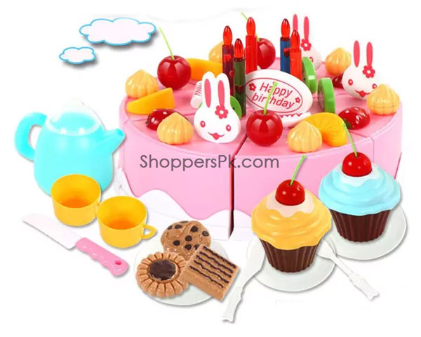 56 Pc Children's Play Cake Trolley 889-15A