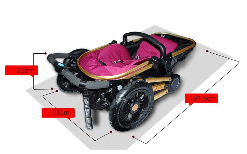 High Quality Baby Stroller Coffee Black