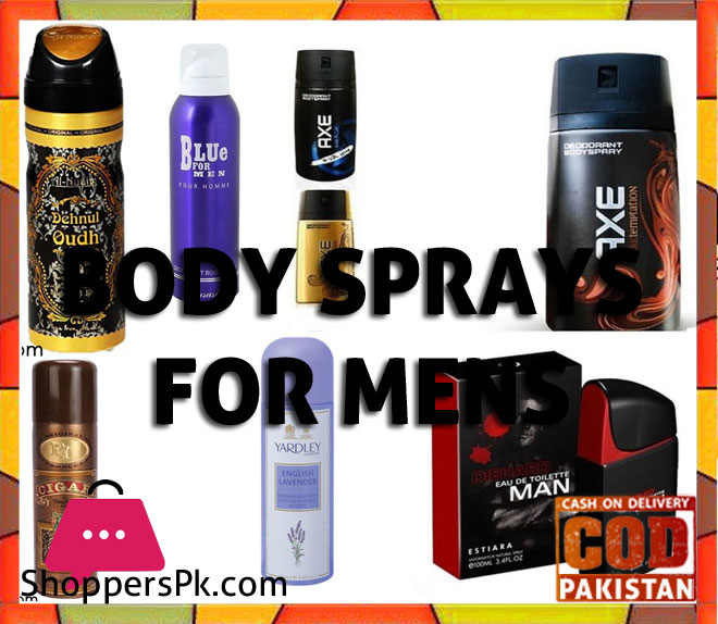 Body Sprays for Men Price in Pakistan