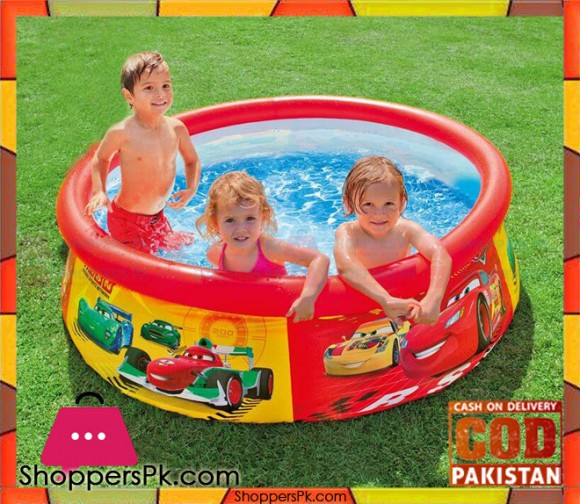 Intex Inflatable Pool Easy Set Pool The Cars Design - 28103