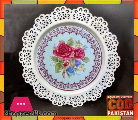 Vintage-Metal-Cake-Serving-Plate-Large-for-10-Inch-Cake-Price-in-pakistan-1