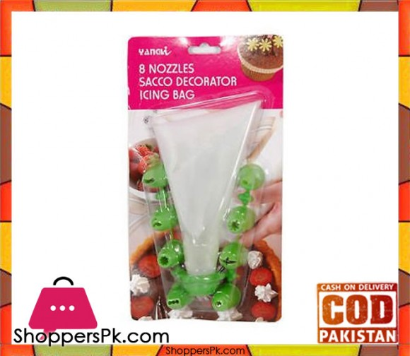 8 Nozzles Sacco Pastry Cake Decorator Icing Bag