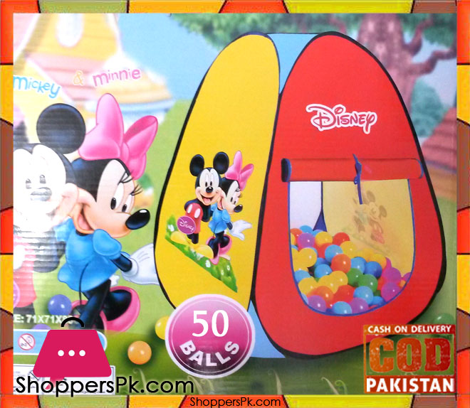 Disnip Mickey Mouse Tent ...  sc 1 st  ShoppersPk.com & Disnip Mickey Mouse Tent With 50 Soft Balls - Shoppers Pakistan