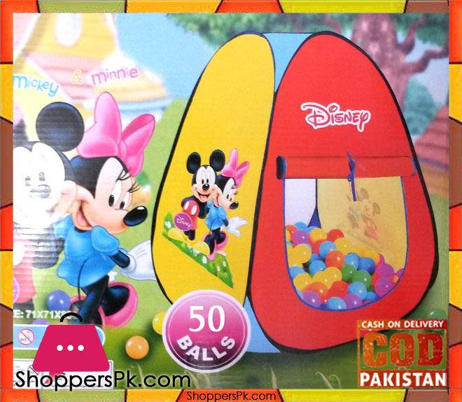 Disnip Mickey Mouse Tent ...  sc 1 st  ShoppersPk.com & Disnip Mickey Mouse Tent With 50 Soft Balls - Shoppers Pakistan
