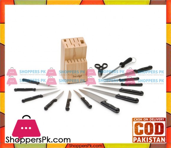 Prestige 14 piece Knife Wooden Block Set 50509