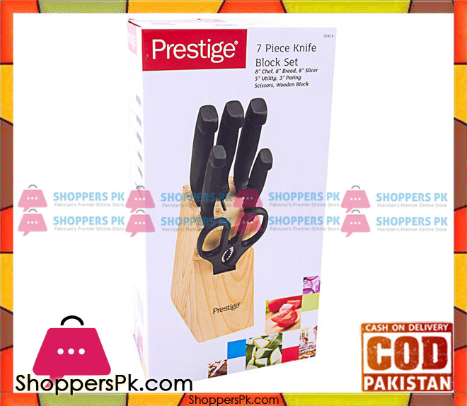 Buy Prestige 7 Piece Knife Block Set 50919 At Best Price