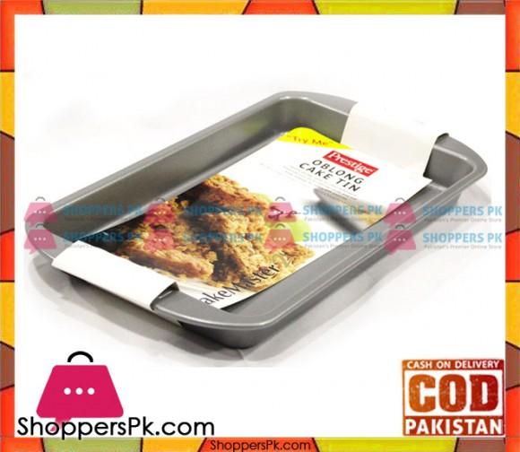Prestige Non-Stick Rectangle Cake Tray Oblong Cake Pan 57123