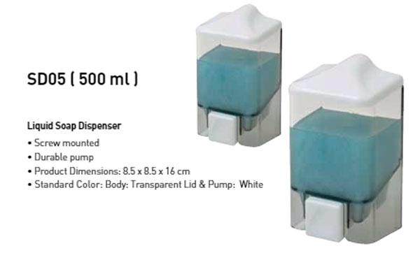 Primanova Spender Soap Dispenser Transparent 0.5-Liter Turkey Made SD05