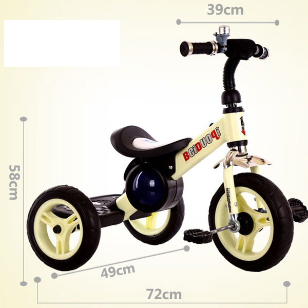 Baby carriages children pedal Tricycle, Bicycle Lights Shining