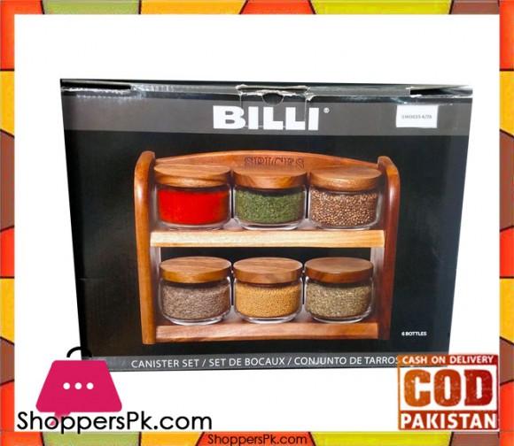 Billi 6 Pcs Jar #GWOG55-6