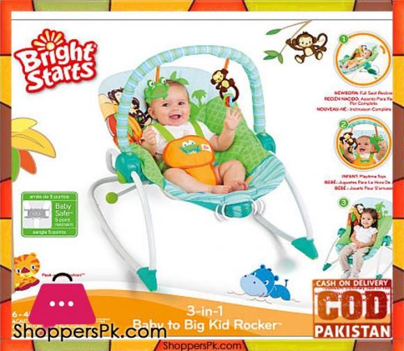 Bright Starts 3-in-1 Baby to Big Kid Rocker 6127