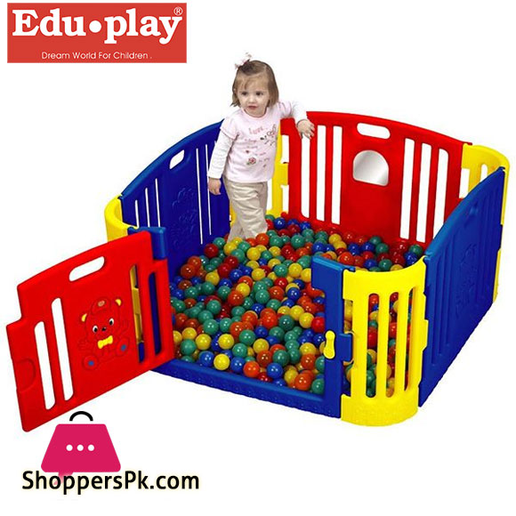 Edu-Play Baby Bear Zone With Enclosed Play Area With A Latched Gate GP-8011R