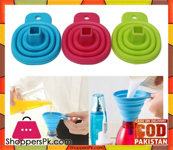 Silicone Foldable Funnel For Kitchen For One Pieces