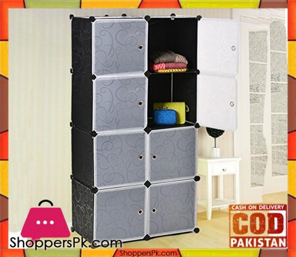 Intelligent Plastic Portable Cube Cabinet – 8 cubes