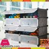 Intelligent Plastic Portable Cube Cabinet – Shoe Rack 8 Cube