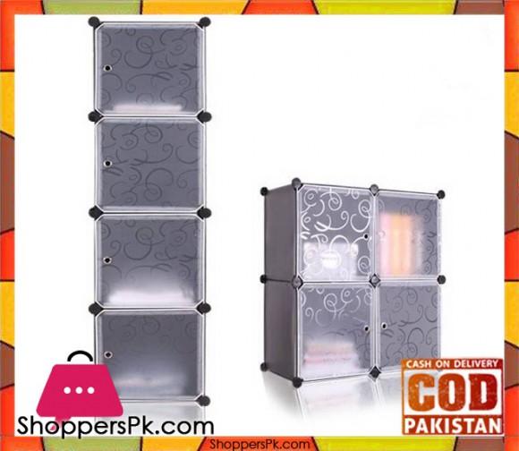 Intelligent Plastic Portable Cube Cabinet - Cabinet 4 Cube