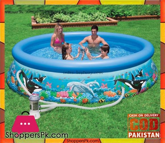 Intex Inflatable Ocean Reef Printed Pool - 12 Feet x 30 Inch - 54906