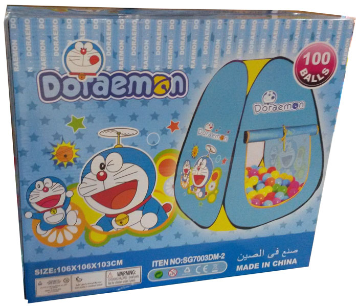 Doraemon Tent with 100 Soft Balls SG7003DM-2