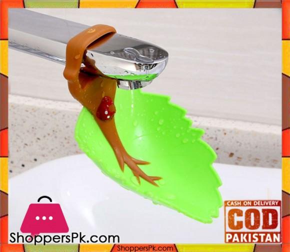 Creative Faucet Extender Washing Leaf Shape Bathroom Gadget