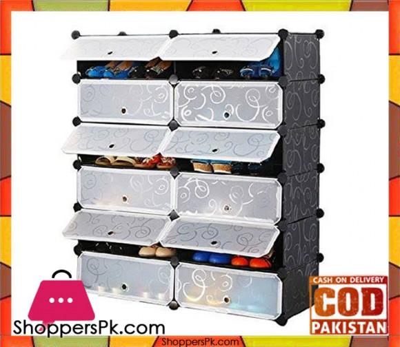 Intelligent Plastic Portable Cube Cabinet -12 cube