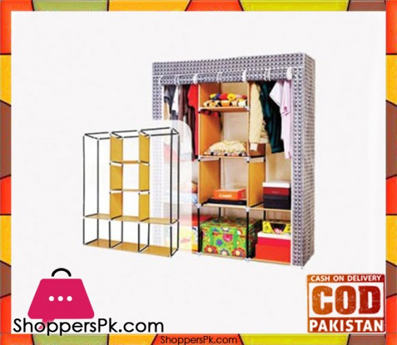 Portable Strorage Wardrobe Sweet Home 26135-B