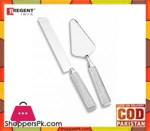 Regent Glitter Cake Lifter and Knife 2 Piece Set C1172CW
