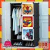 Spiderman Portable 6 Cube Cabinet With Hanging Rod With Shoe Rack
