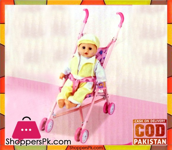Stroller with 14 inch Baby Doll with Music