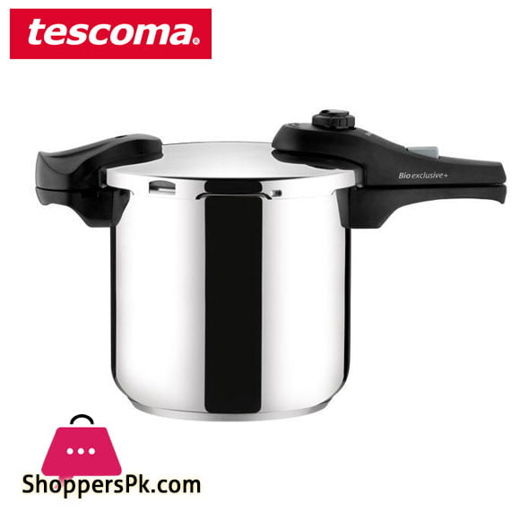 Tescoma BIO EXCLUSIVE + PRESSURE COOKER 7.5 Liter Cooker Italy Made #701708