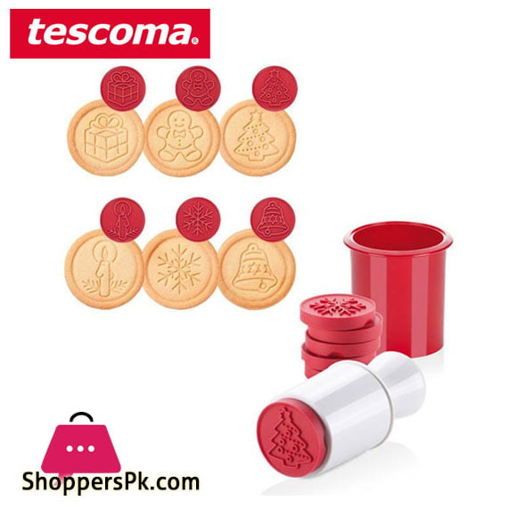 Tescoma Delicia Cookie Stamp Set 6 Motifs Italy Made #630114