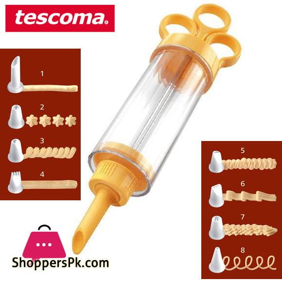 Tescoma Delicia Piston Cake Decorator With 8 Nozzles Italy Made #630526