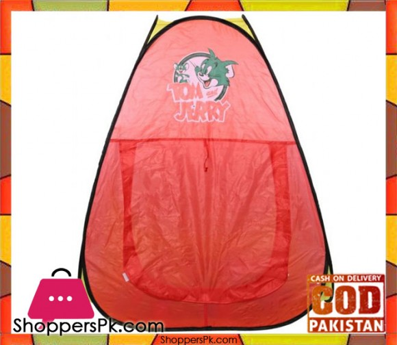 Tom and Jerry Foldable Kids Play Tent with 100 Soft Balls SG7003TJ-2