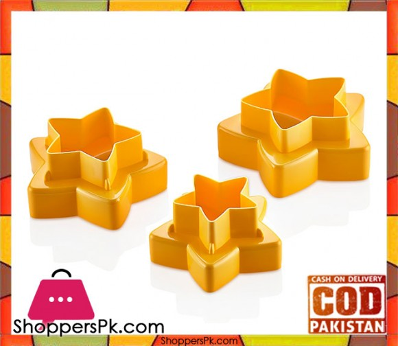 3x Double Sided Star Cookie Cutter