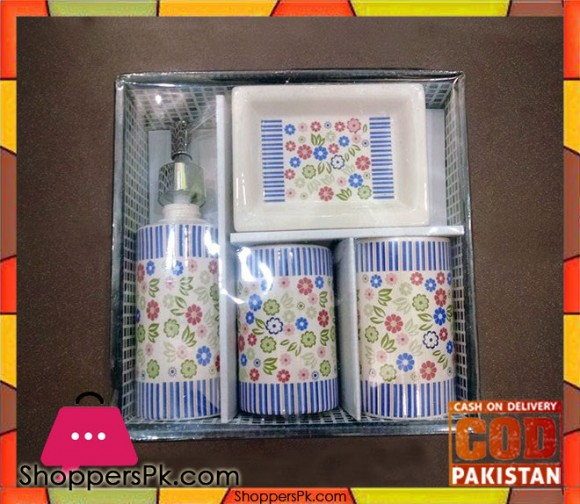 4Pcs Ceramic Bathroom Set B1
