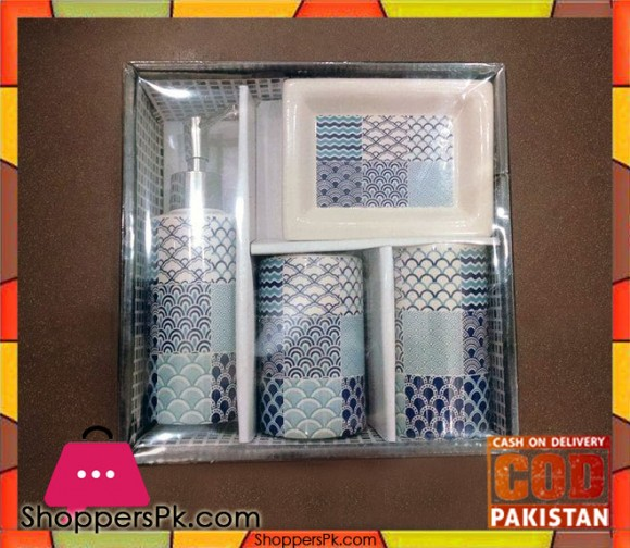 4Pcs Ceramic Bathroom Set B4