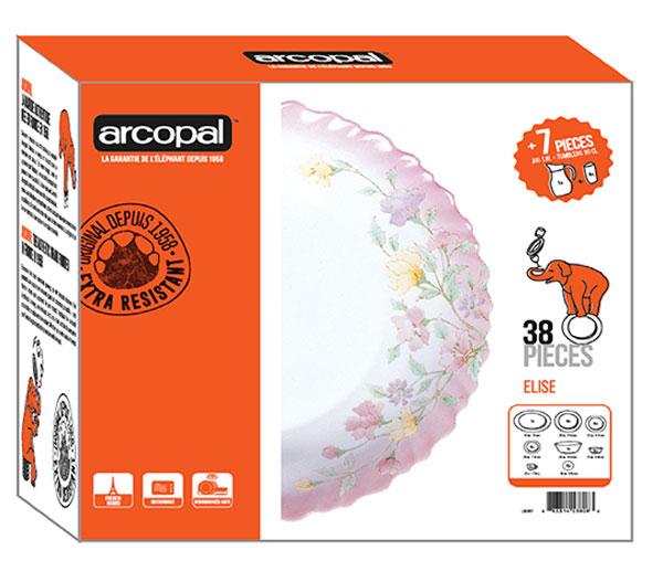 Arcopal Elise 38 Pieces Dinner Set