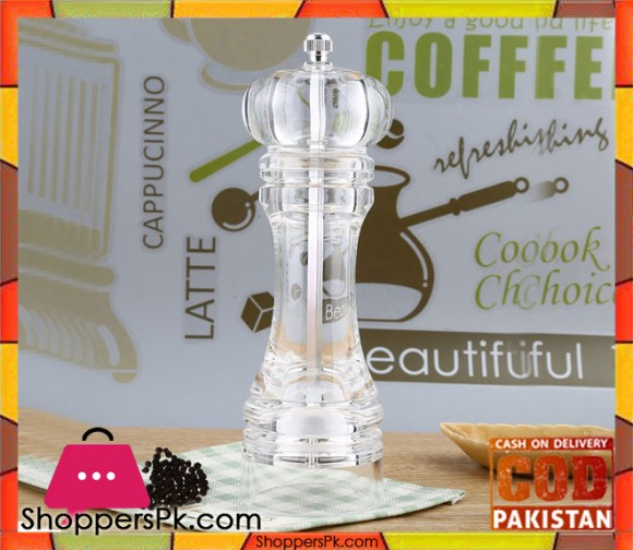 Acrylic Pepper Grinder Spices Mill 7 Inch
