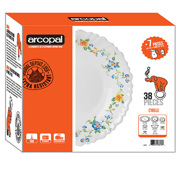 Arcopal Cybele 38 Pieces Dinner Sets