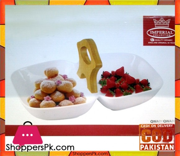 Imperial 2 Step Serving Dish With Wooden Handle
