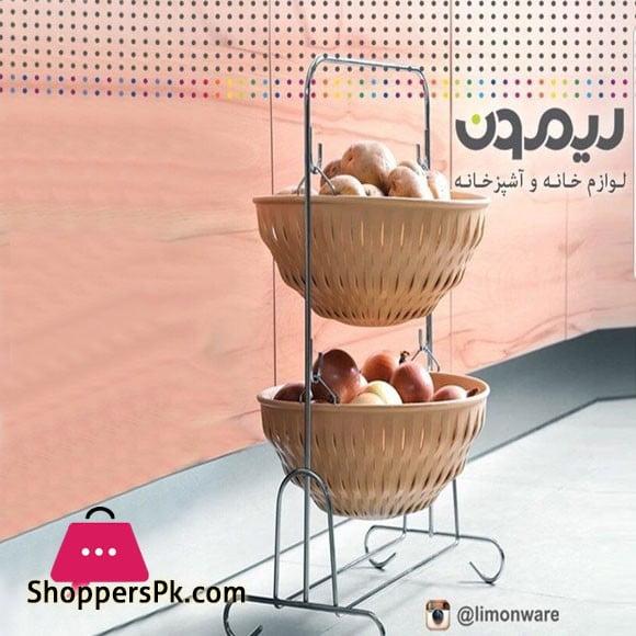 2 Tier Metal Fruit Baskets