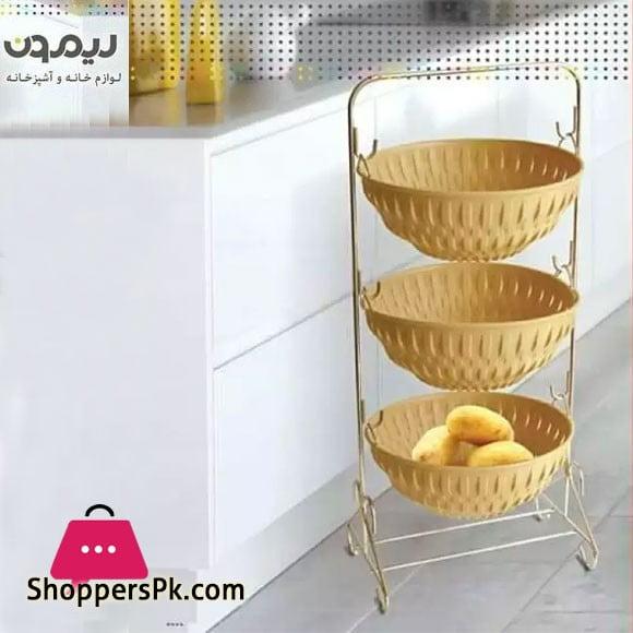 Limon 3 Tier Metal Fruit Basket