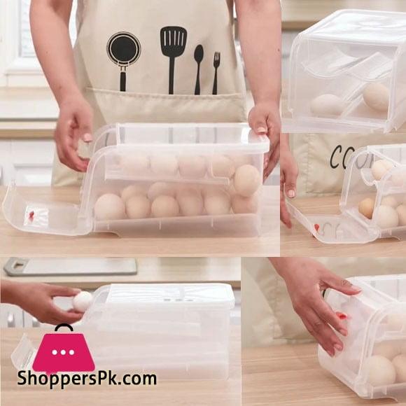 Plastic Egg Storage Box Eggs Holder