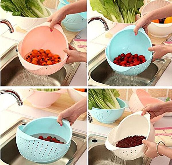 Rice Pulses Fruits Vegetable Washing Bowl