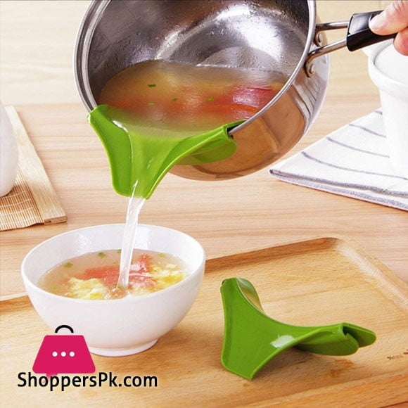 Silicone Pouring Spout Funnel for Pots Pans and Bowls