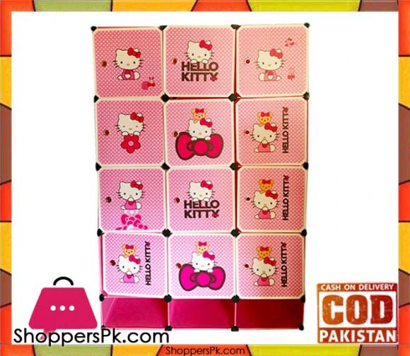 Hello Kitty 12 + 3 Portable Cube Cabinet
