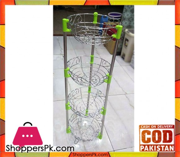 4 Tier Metal Fruit Baskets