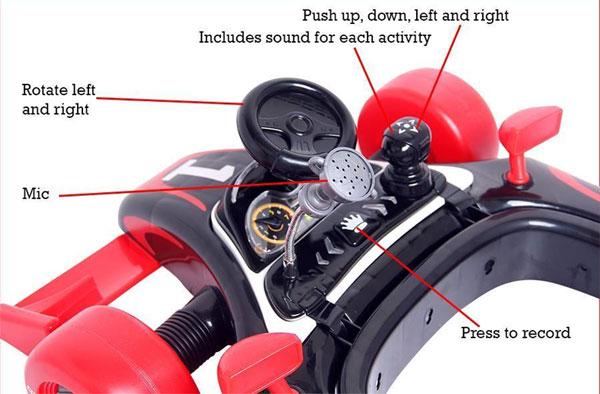 Buy 4 In1 Baby Walker Rocker Formula Racing Car And Push