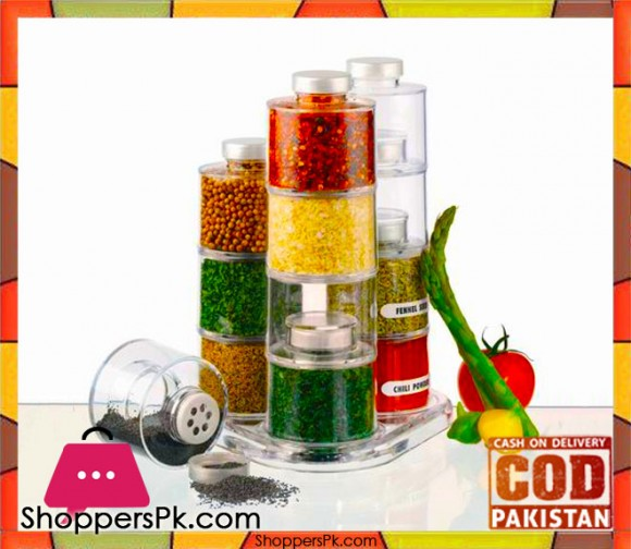 Acrylic Spice Tower 12 Pieces